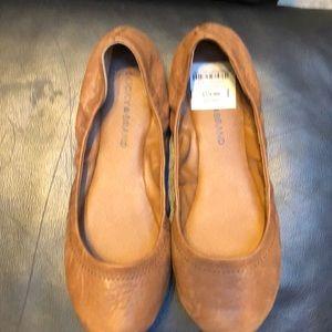 Brown Lucky Brand Ballet Flats